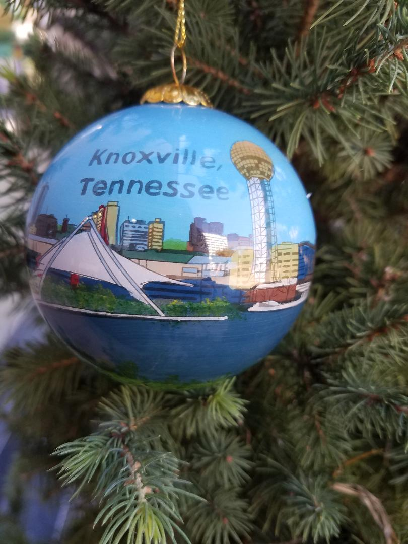 Knoxville Skyline Hand Painted Ornaments Earth To Old City